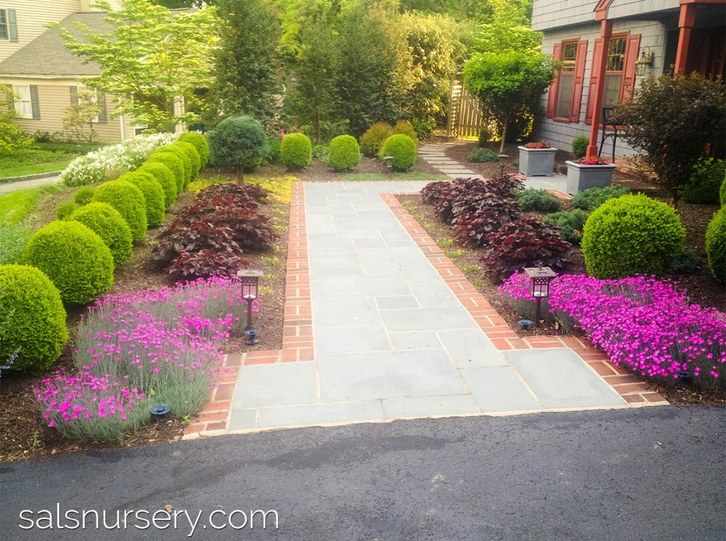 Brick Pavers and Stone Front Walkway