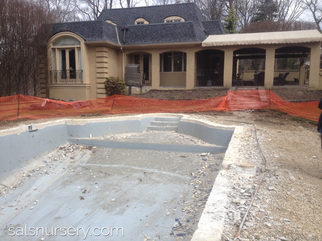 Construction of a pool