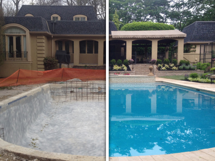 Before And After Image of Pool