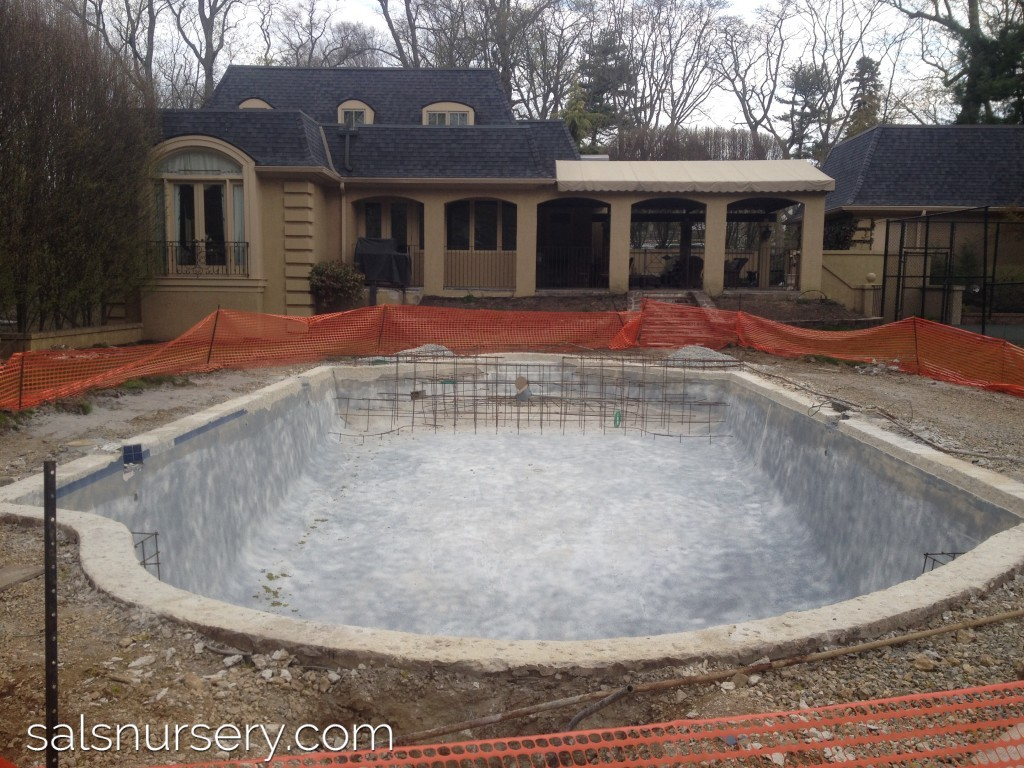 In Progress picture of pool construction