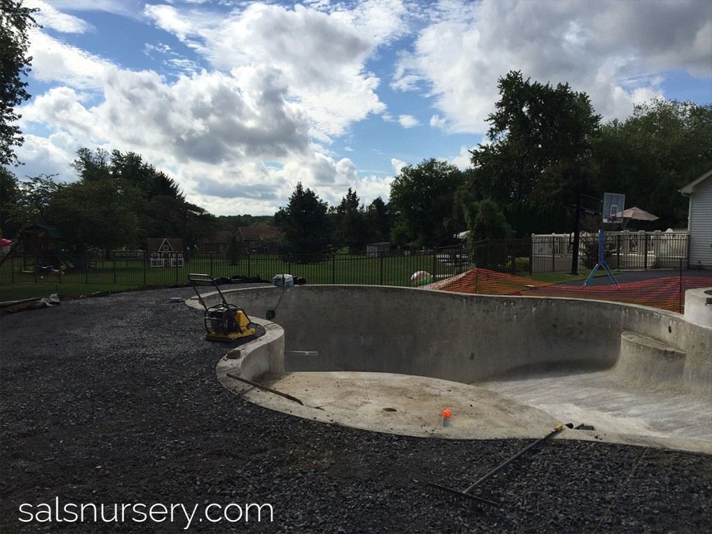 Swimming pool progress