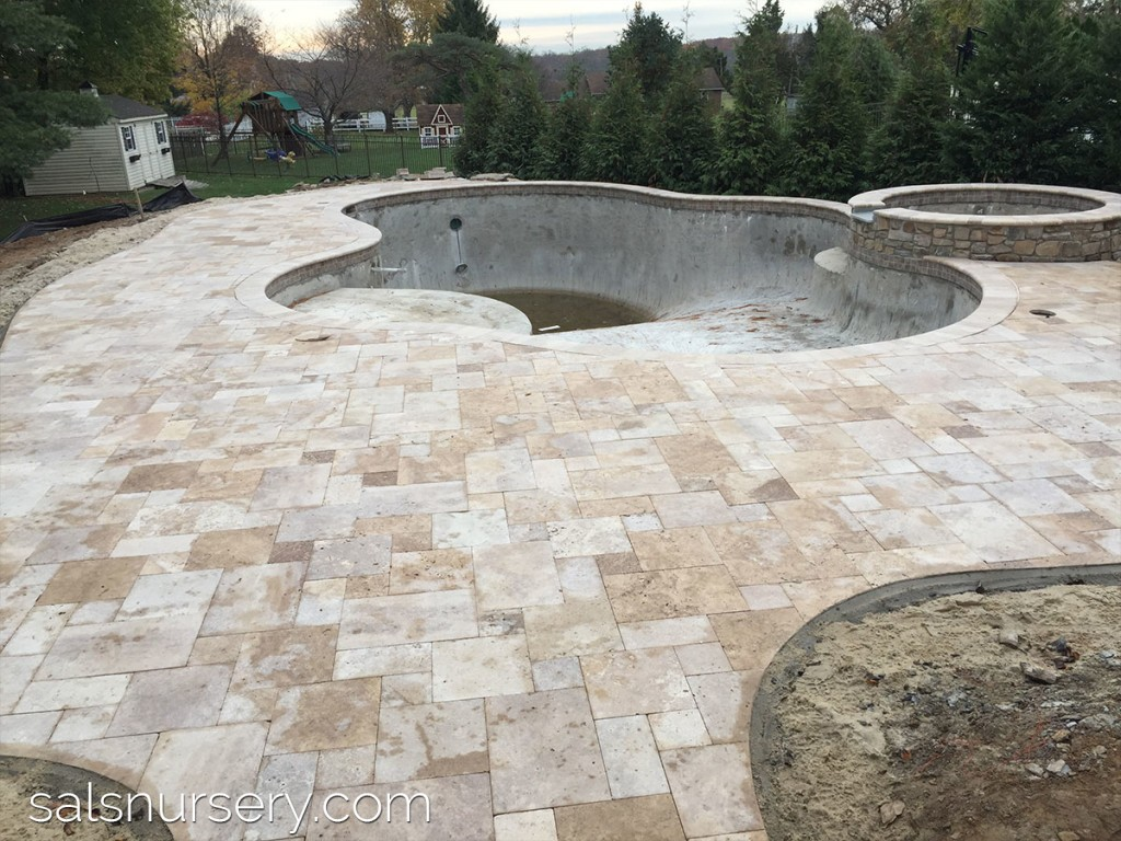 Paver pool deck